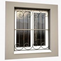 grilaj-fier-forjat-fereastra